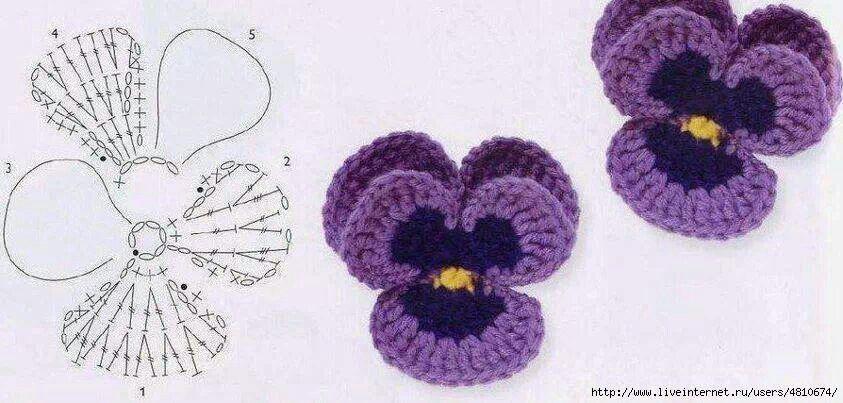 Crochet Iris Flower Pattern : Pattern flower crochet Crochet Pinterest