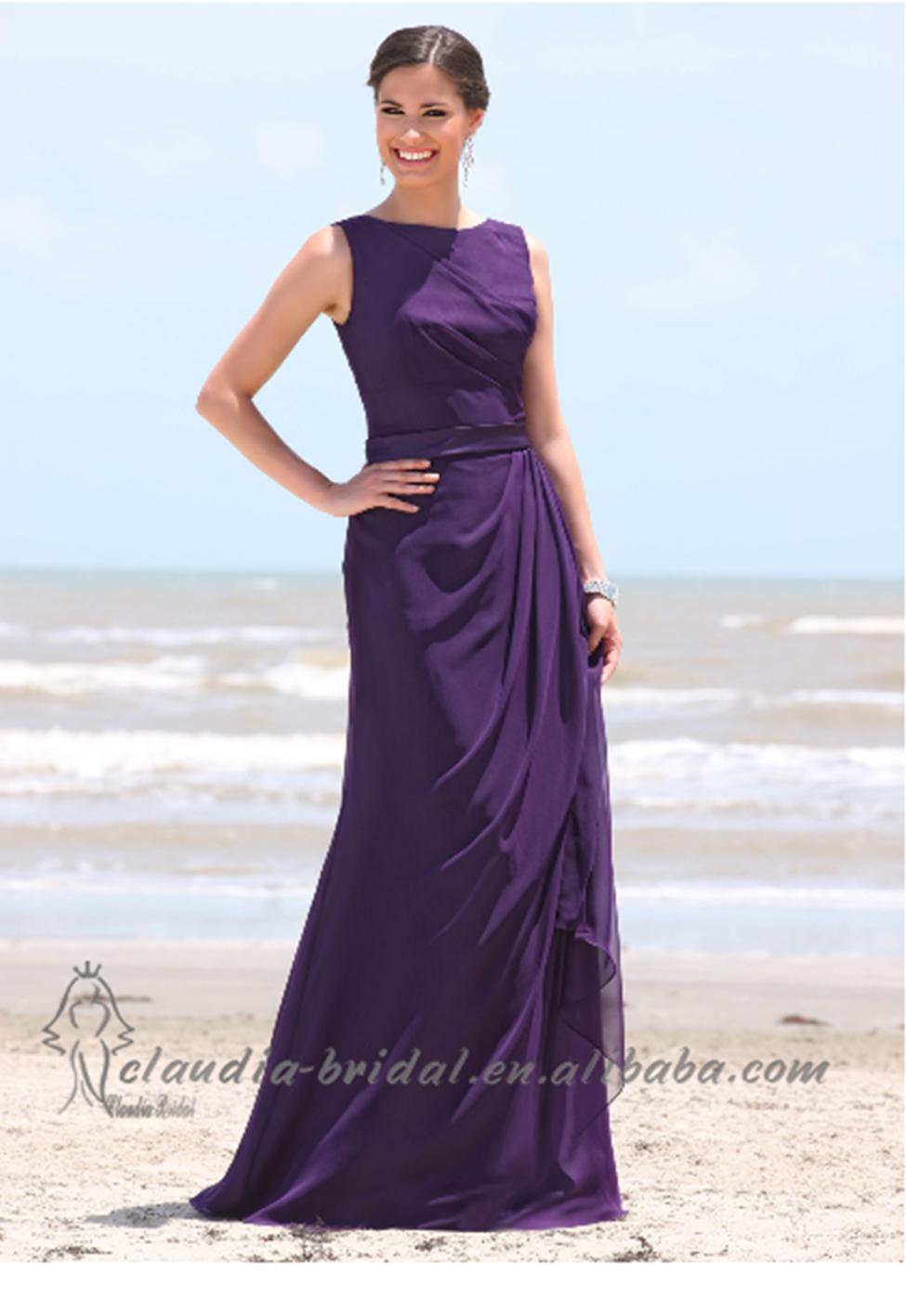 Deep Purple Wedding Dresses : Deep purple bridesmaid dress wedding