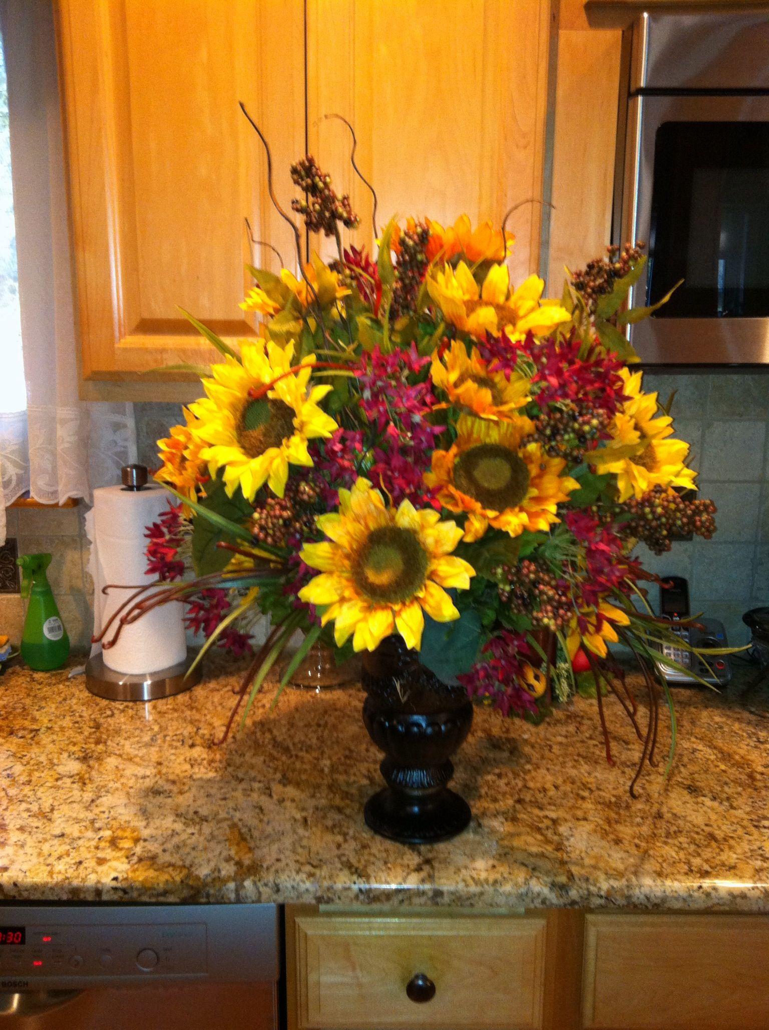 Sunflower centerpiece my crafts pinterest