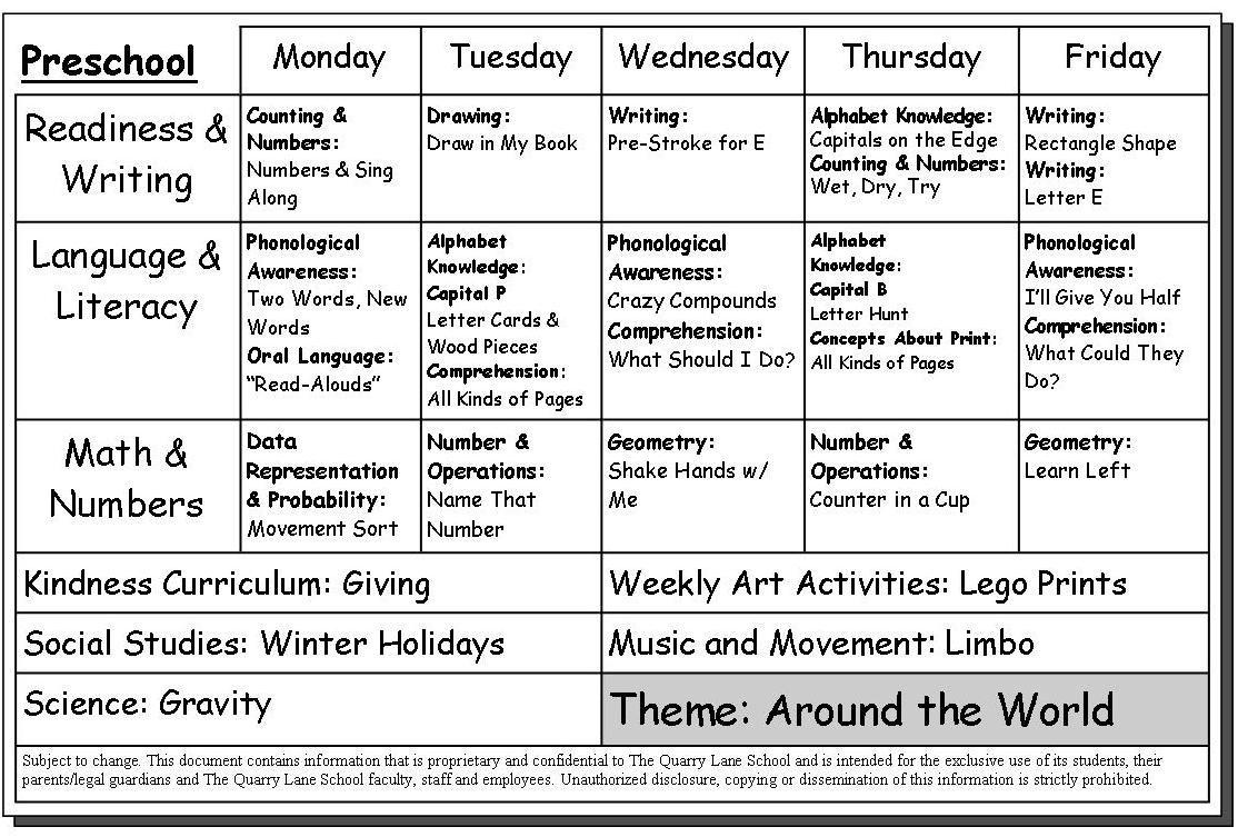 Doc600463 Sample Preschool Calendar Neverland Summer Camp for – Sample Weekly Calendar