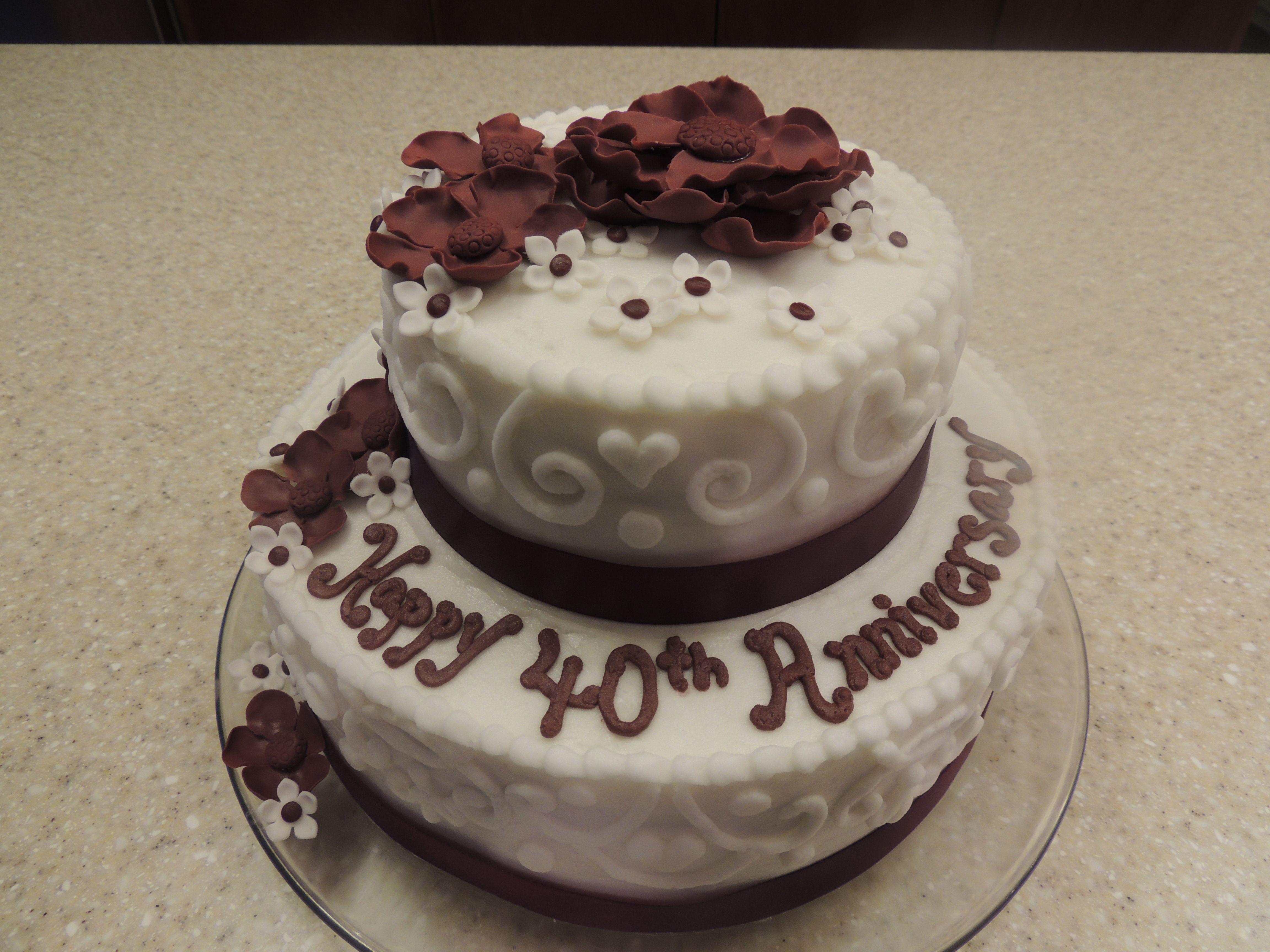 40th anniversary cake anniversary cakes pinterest