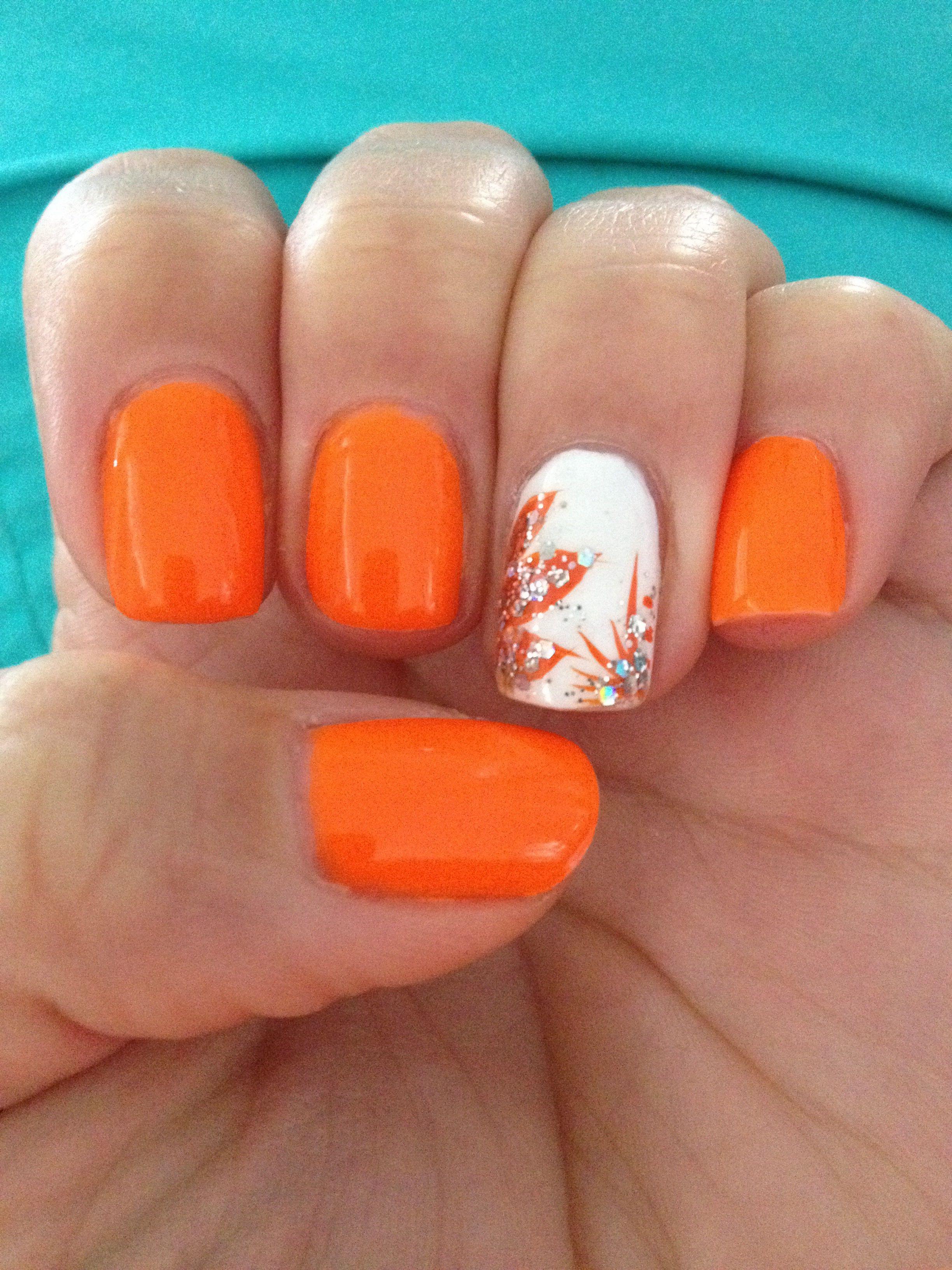 Фото дизайн ногтей оранжевые