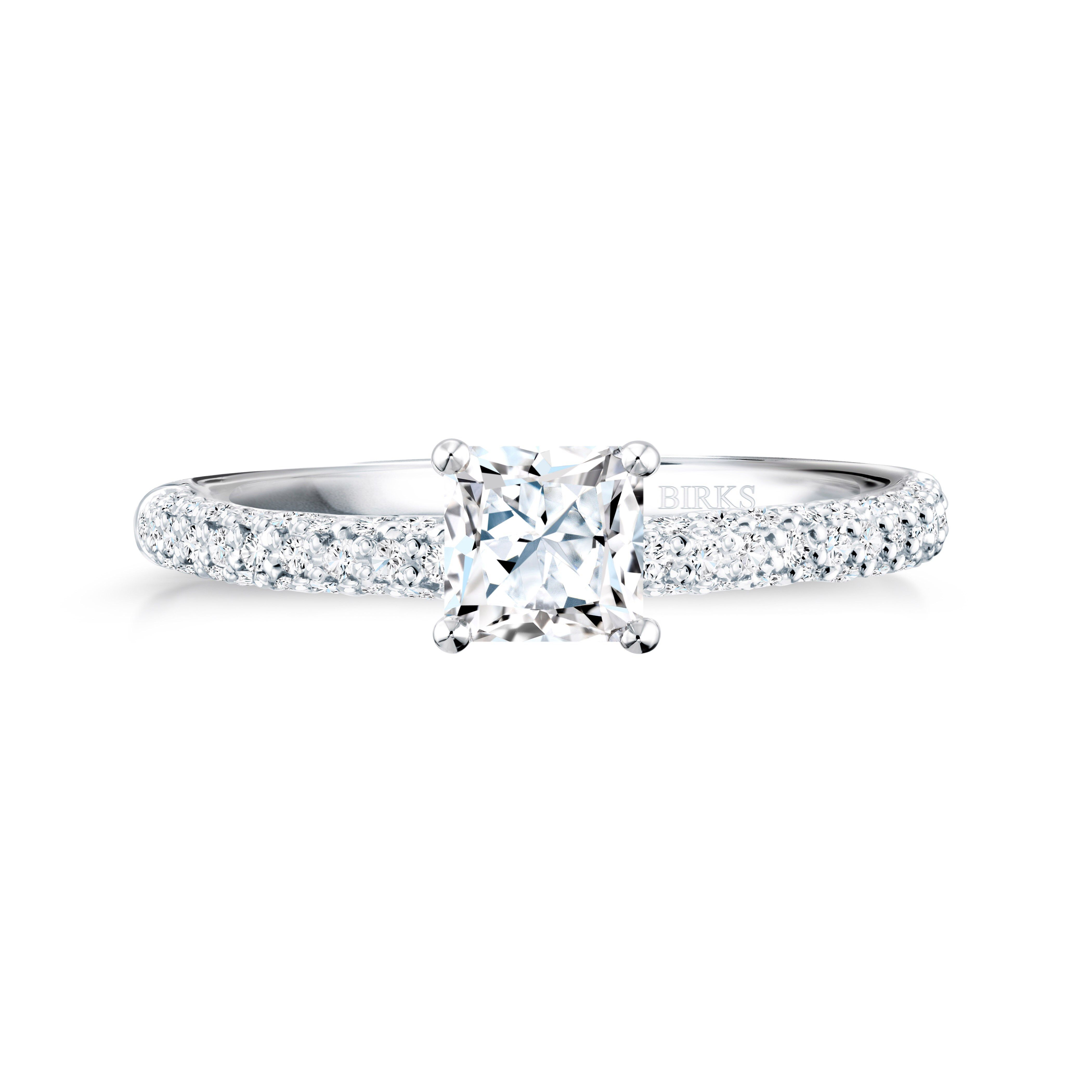 princess cut pave engagement ring random things pics