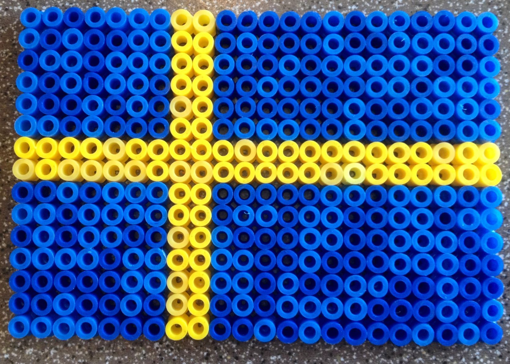 Swedish flag bead perles hama hama pinterest