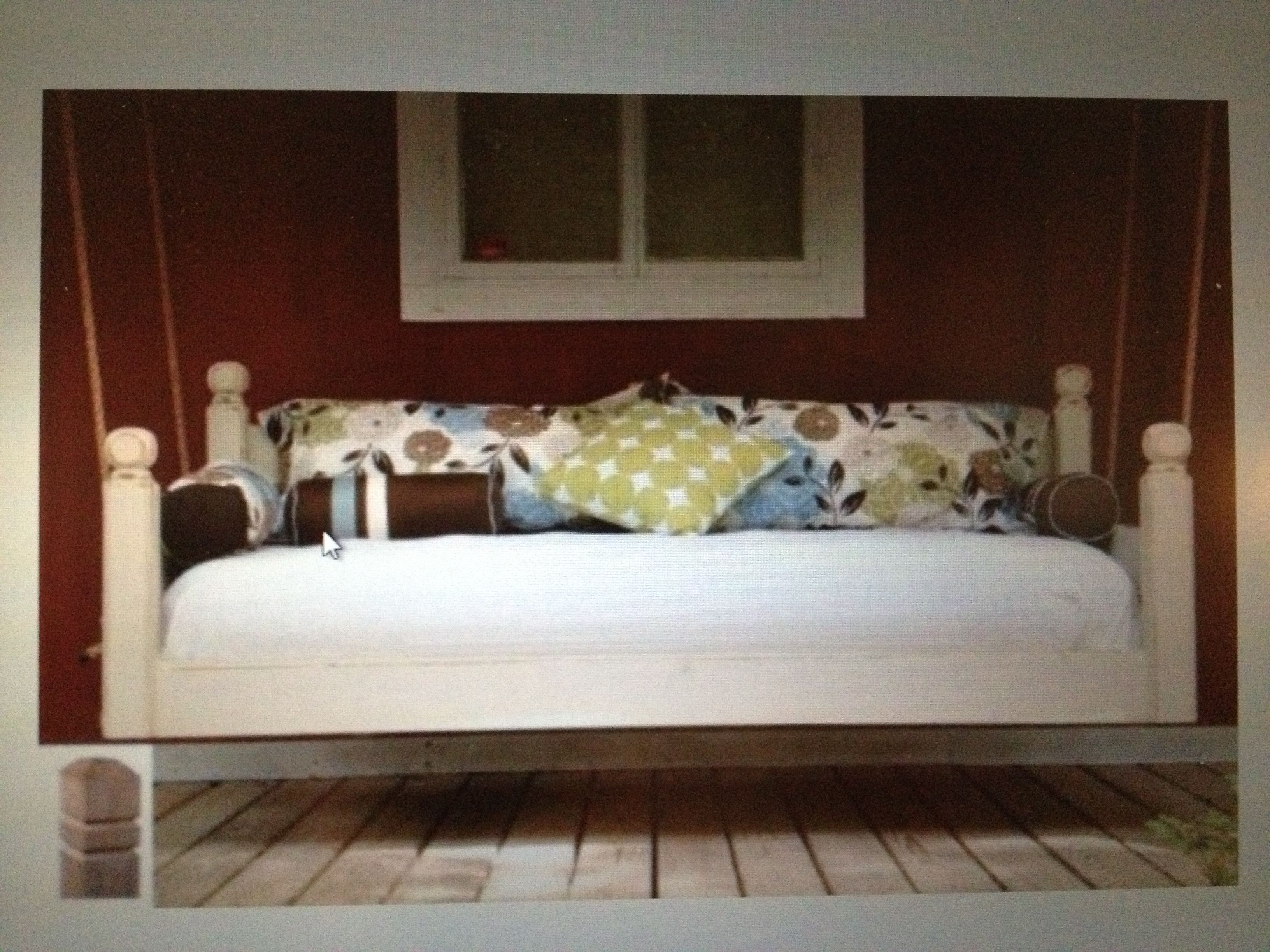 Front Porch Swing Bed For The Home Pinterest