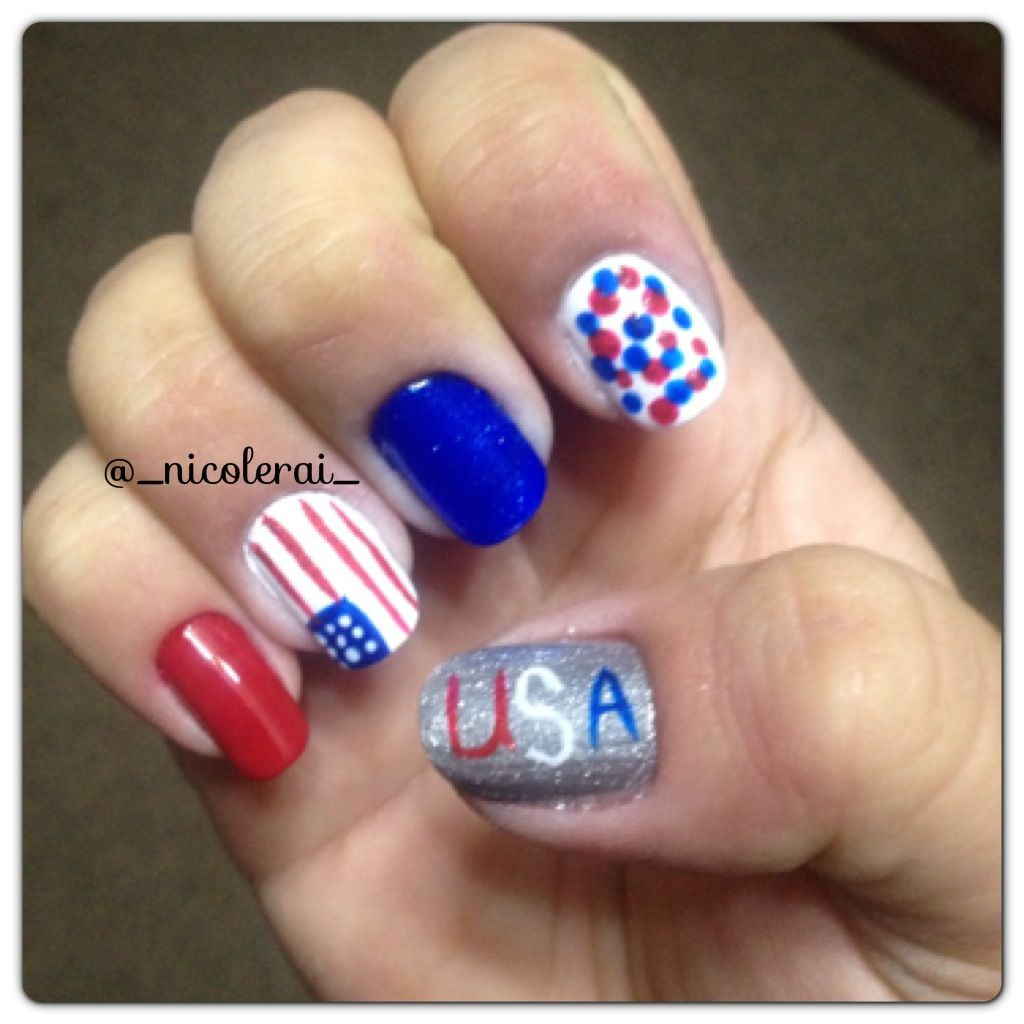 memorial day nail art pinterest