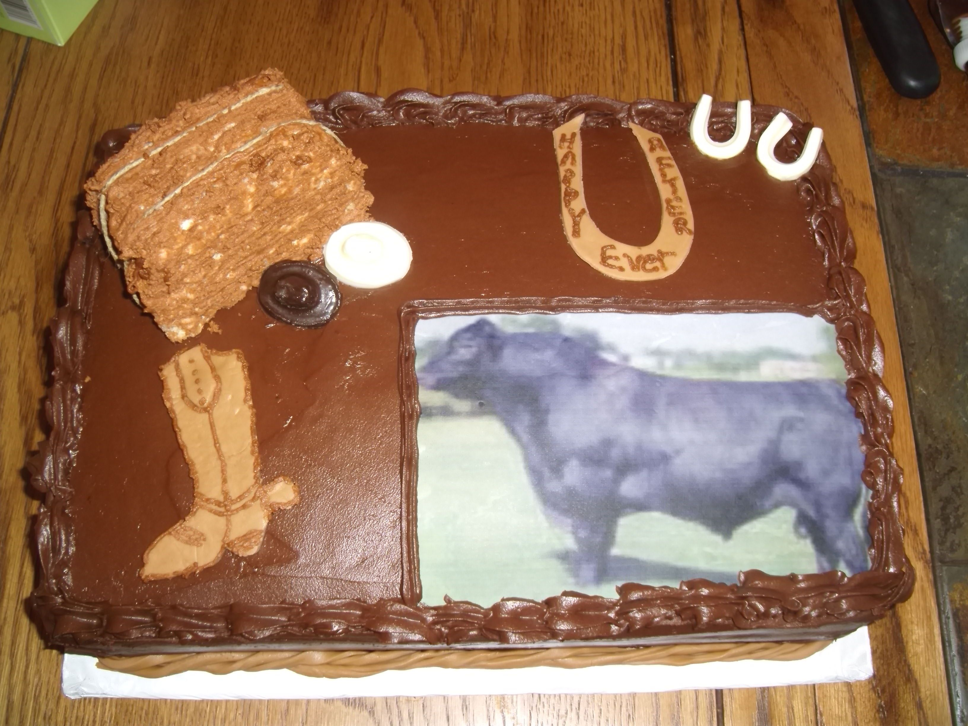 Grooms Cake Western Ranch theme
