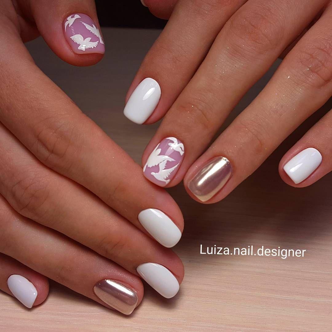 Дизайн белых ногтей 2018 фото новинки