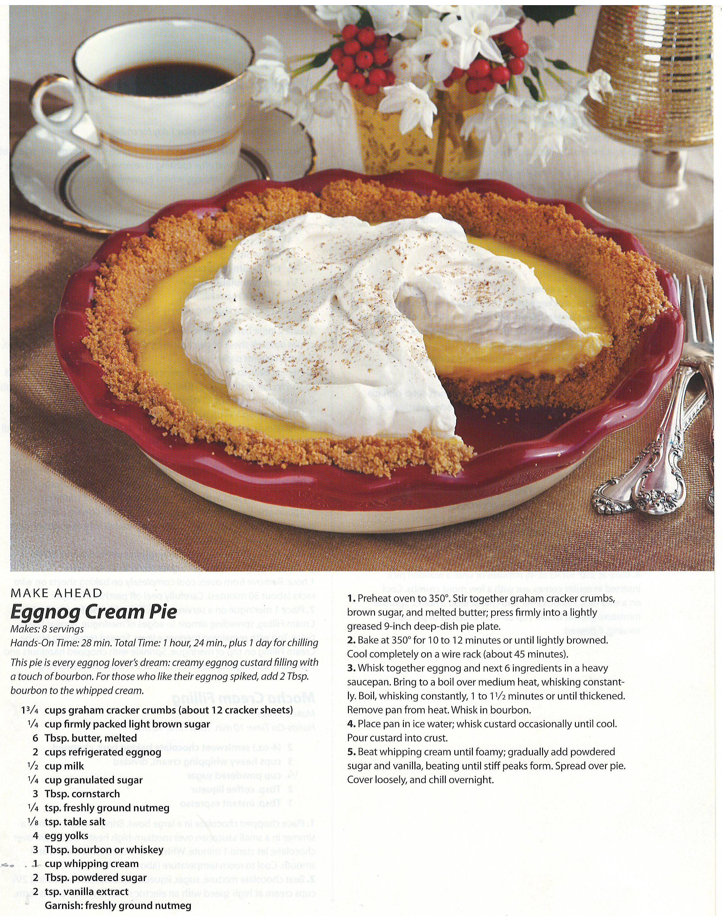 Eggnog Cream Pie | Recipes and food related ideas | Pinterest