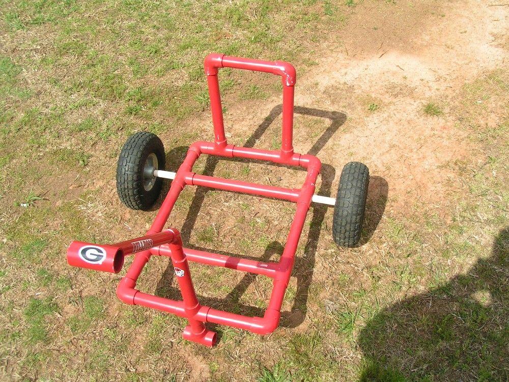 Beach cart do it yourself pinterest for Homemade fishing cart