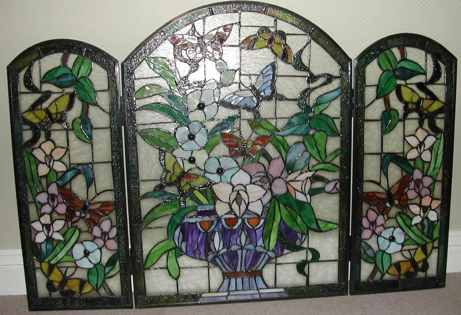 Stained Glass Fire Screen Innovation pixelmari