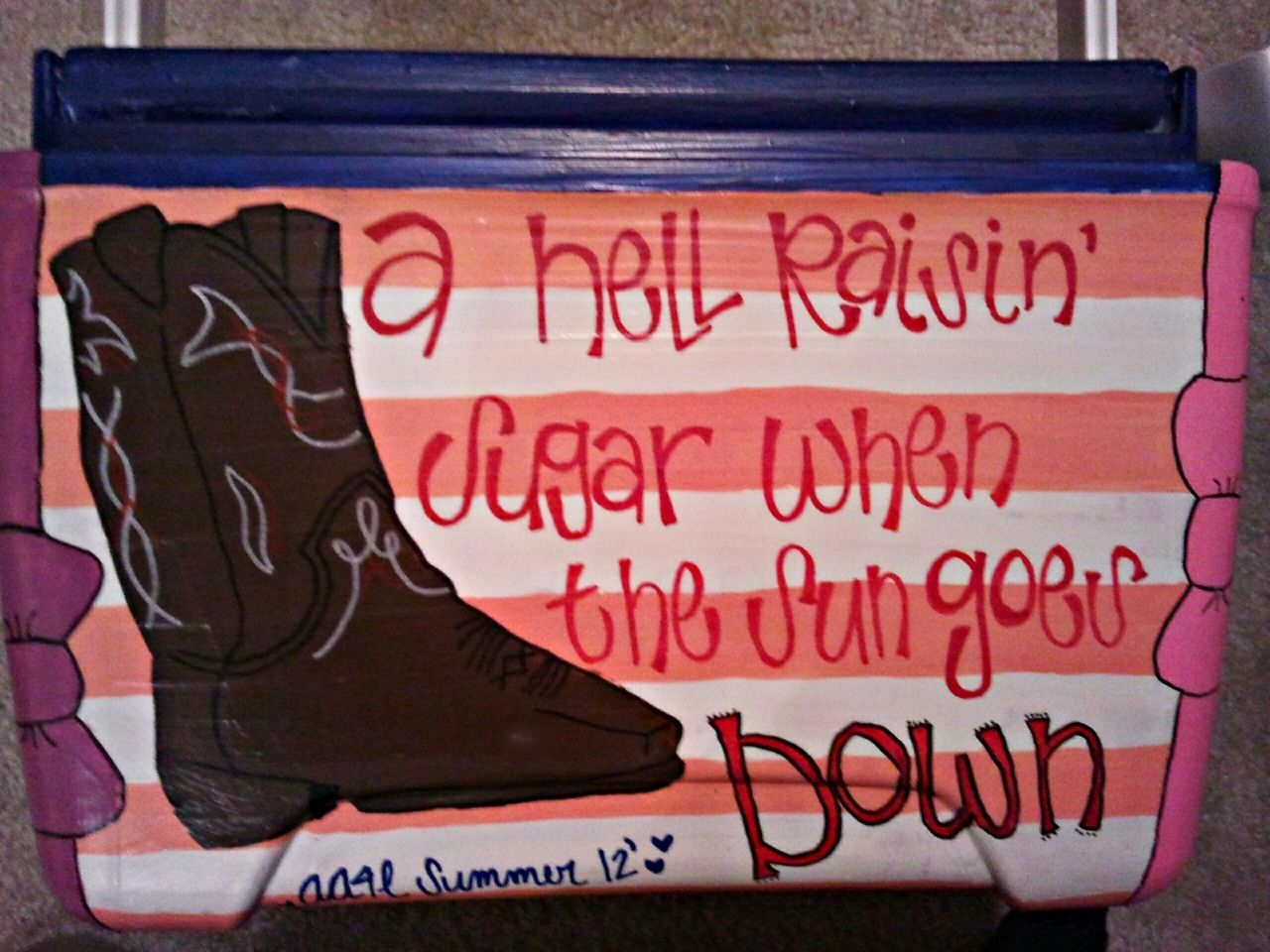 cooler painting | sorority sugar, love this without the cowboy boots!