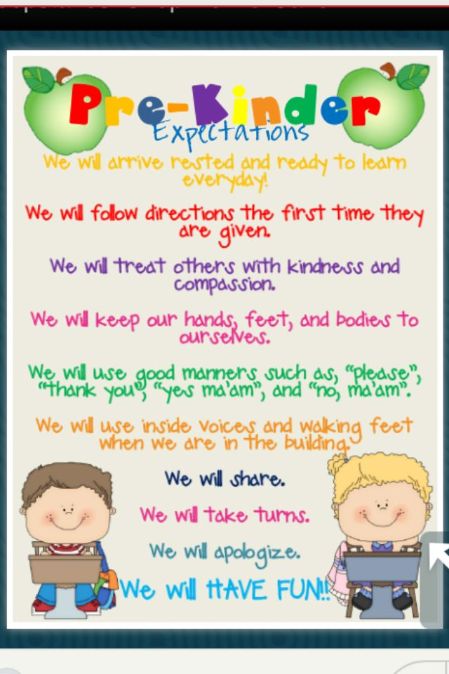 Pre-K Classroom Rules | Pre-k/Kindergarten | Pinterest