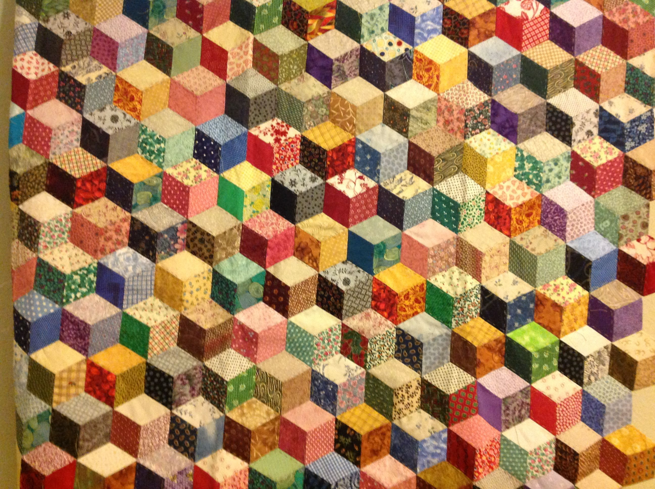 Quilting Patterns Tumbling Blocks : Tumbling blocks Quilts and Quilting Pinterest