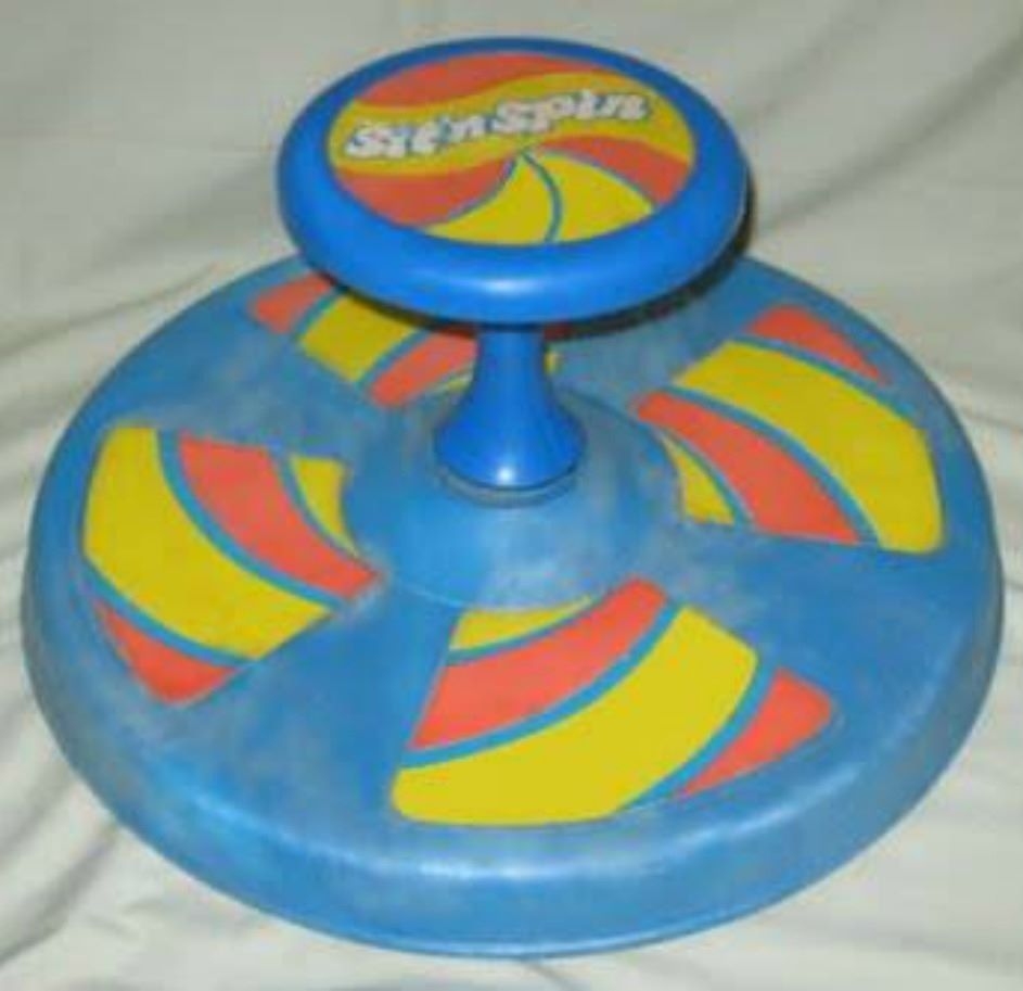 Vintage sit and spin