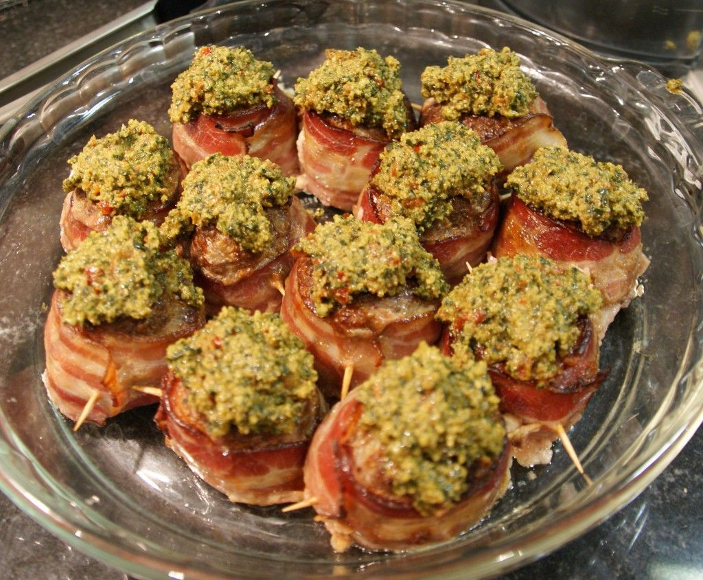 Beef Roulades With Walnut Parsley Pesto Recipe — Dishmaps