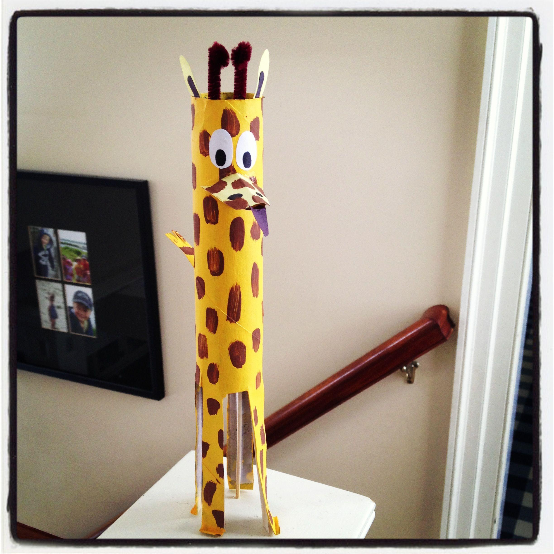 Giraffe toilet paper roll crafts pinterest