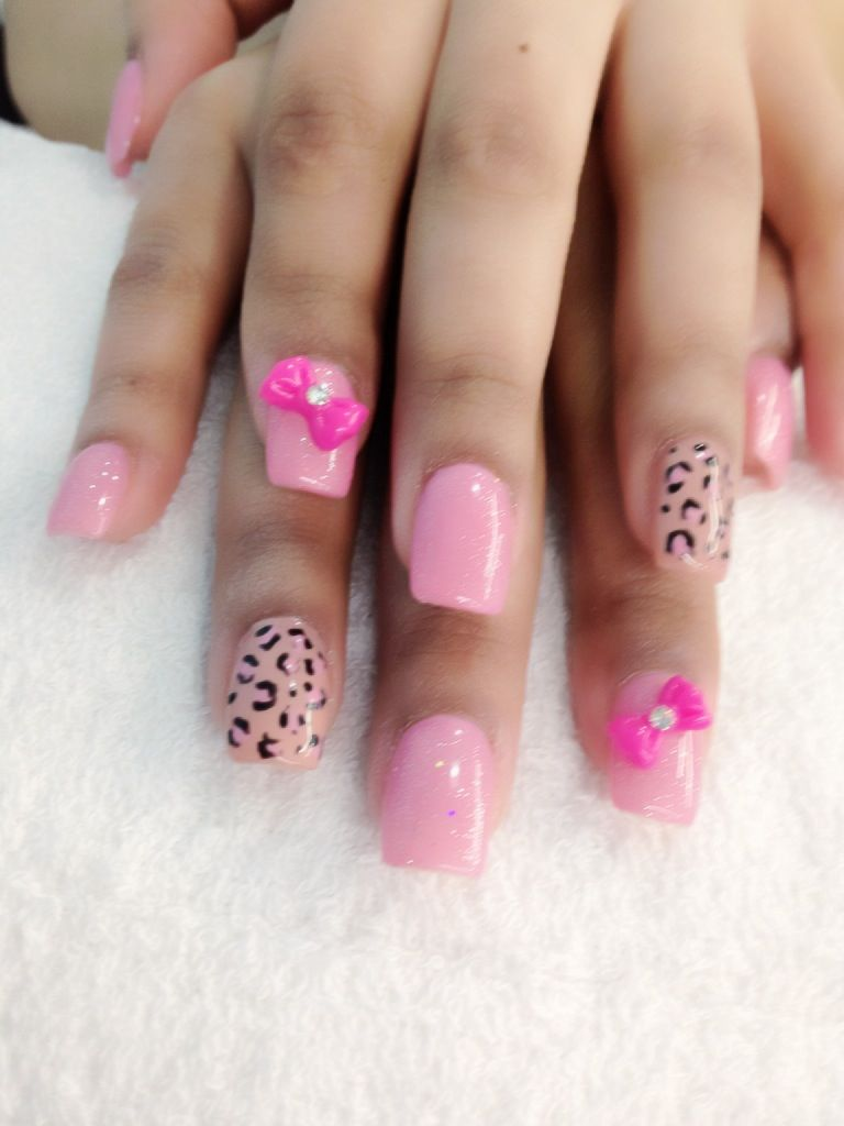 Gel Nails With Bows | Short Hairstyle 2015