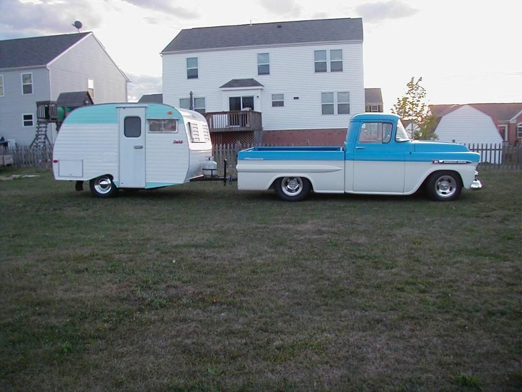 Chevy and Scotty | Old trucks and vintage campers | Pinterest