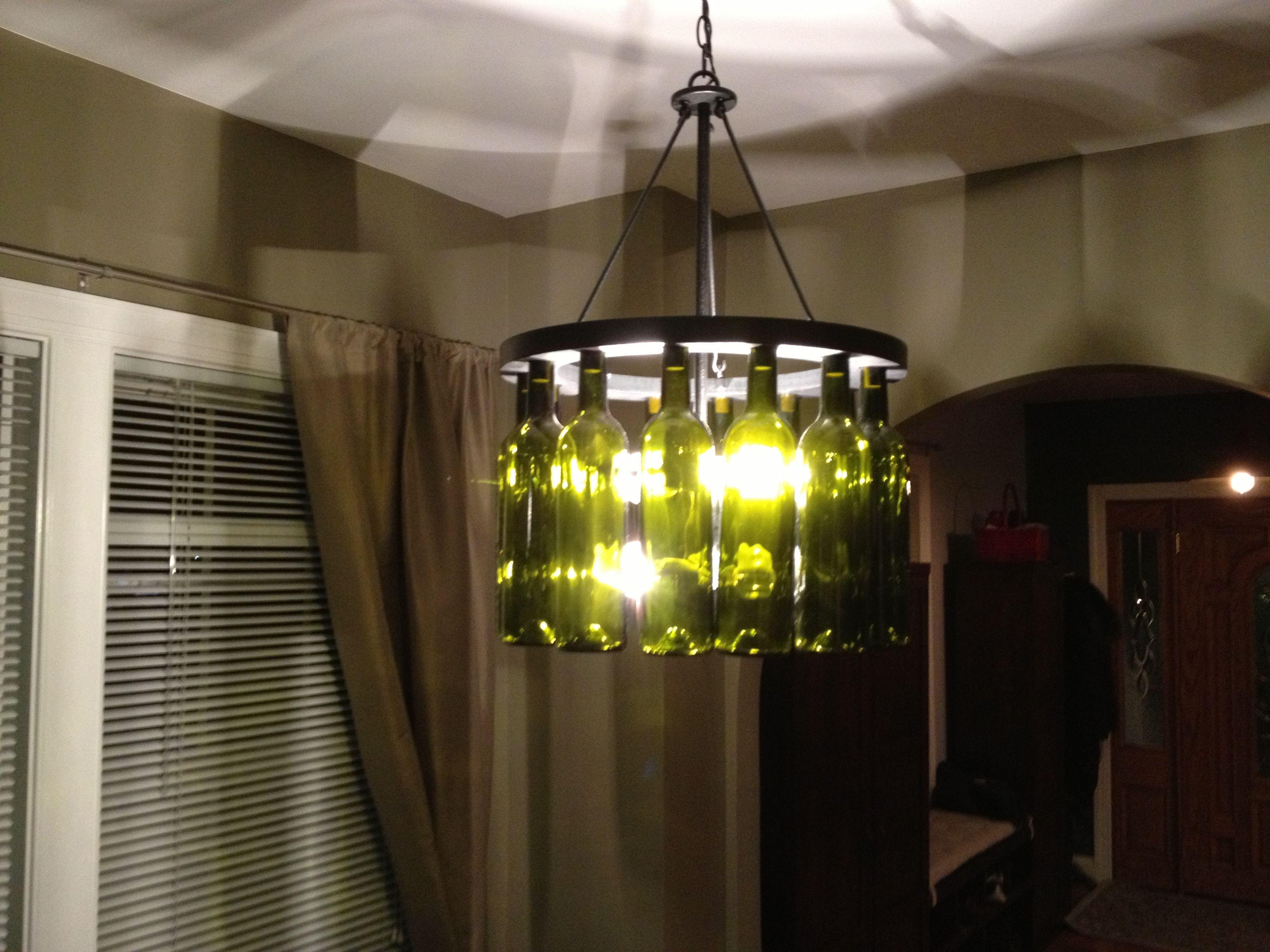Wine bottle light fixtures around the house pinterest - Wine bottle light fixtures ...