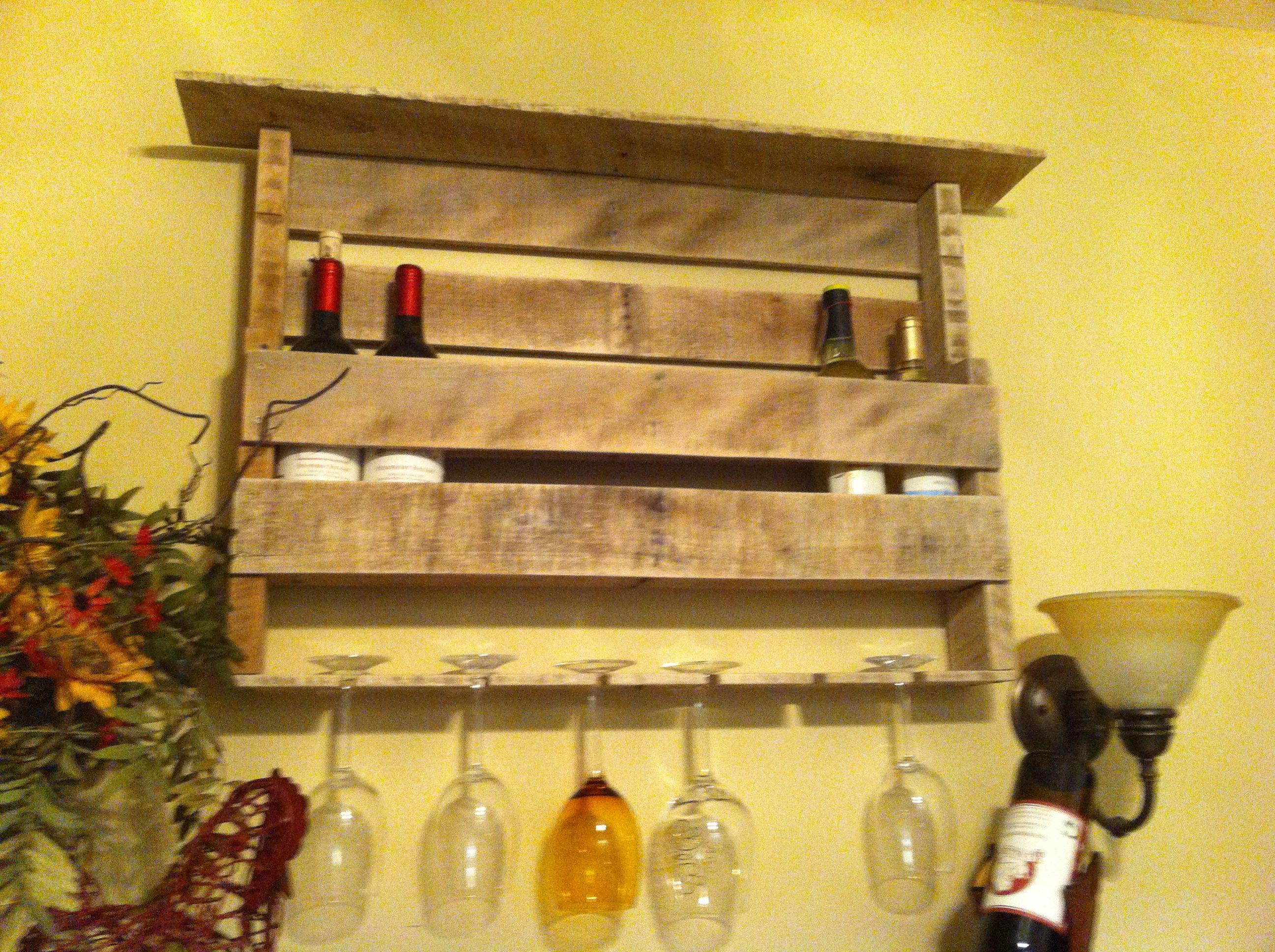 Pallet Wine Rack Diy Love Pinterest