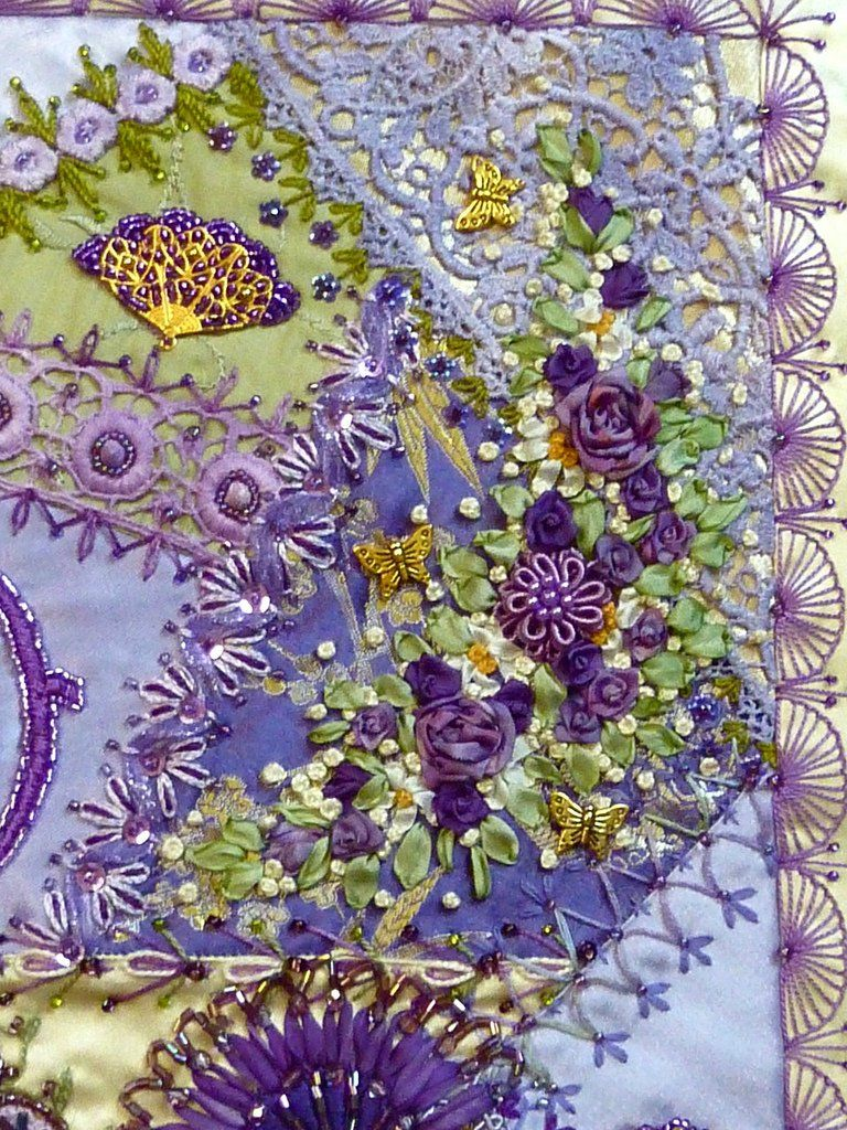 I embroidery crazy quilting quilt pinterest