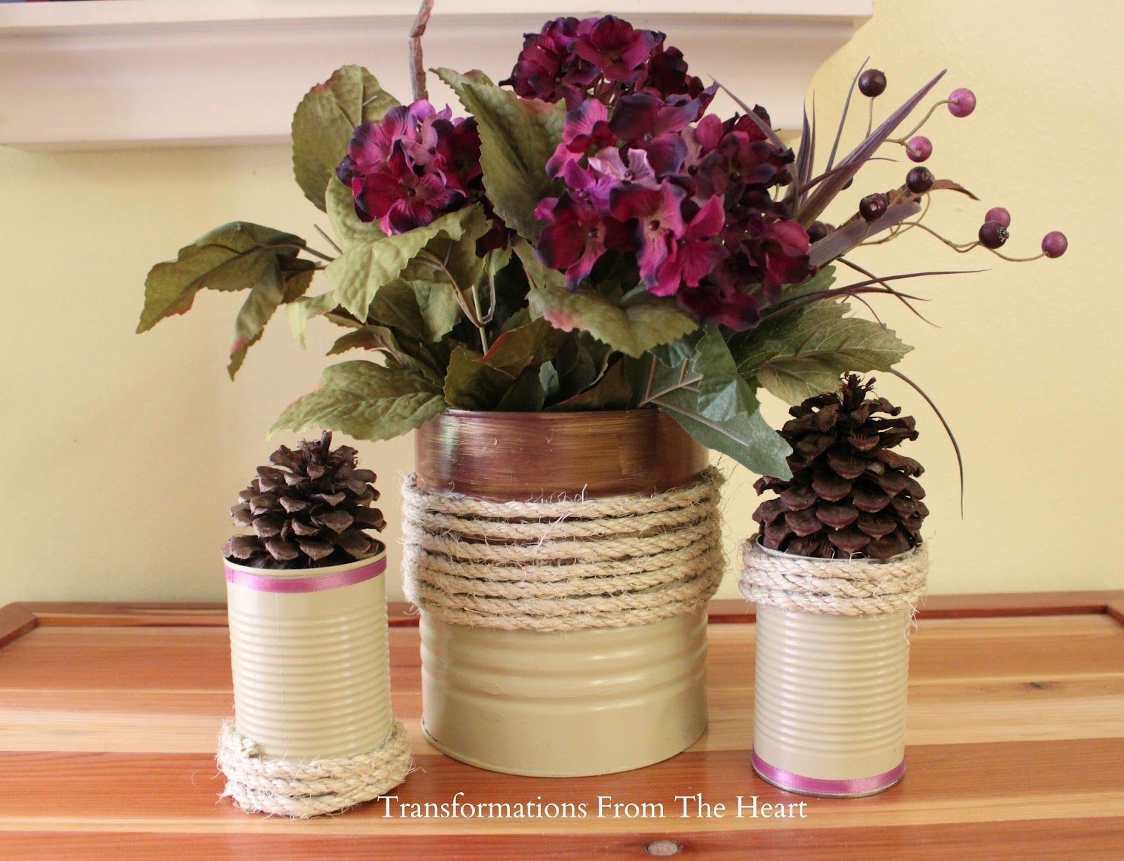 Decorated tin can vessels melinda daniel nov 29 for Decorating tins for christmas