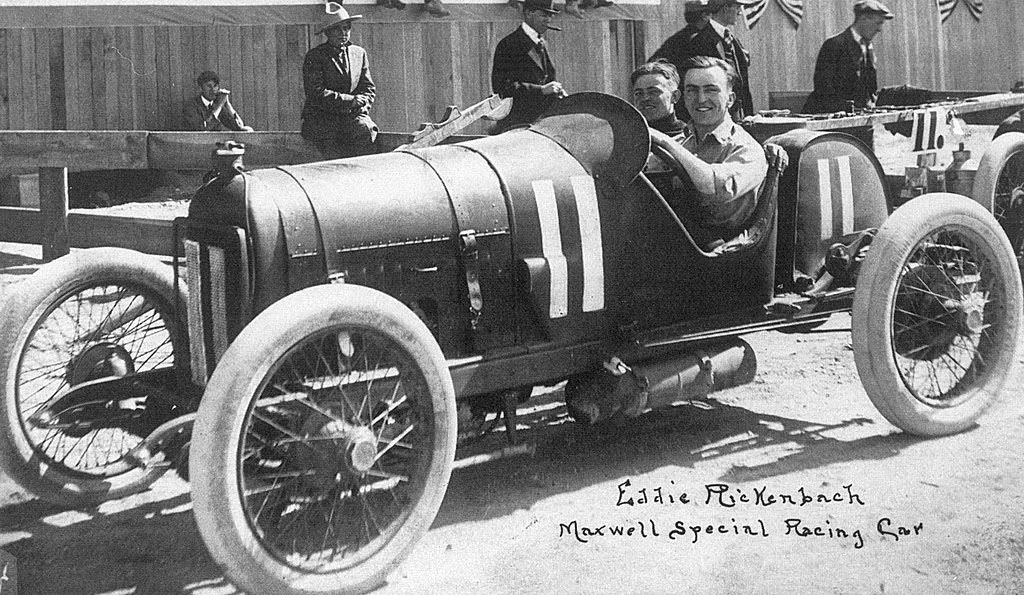 eddie rickenbacker from race car driver Eddie rickenbacker developed a local reputation as a driver-- although he never held a driver's license nor did he ever [missing text] the rickenbacker motor company, which produced the first car with four-wheel brakes in this country.
