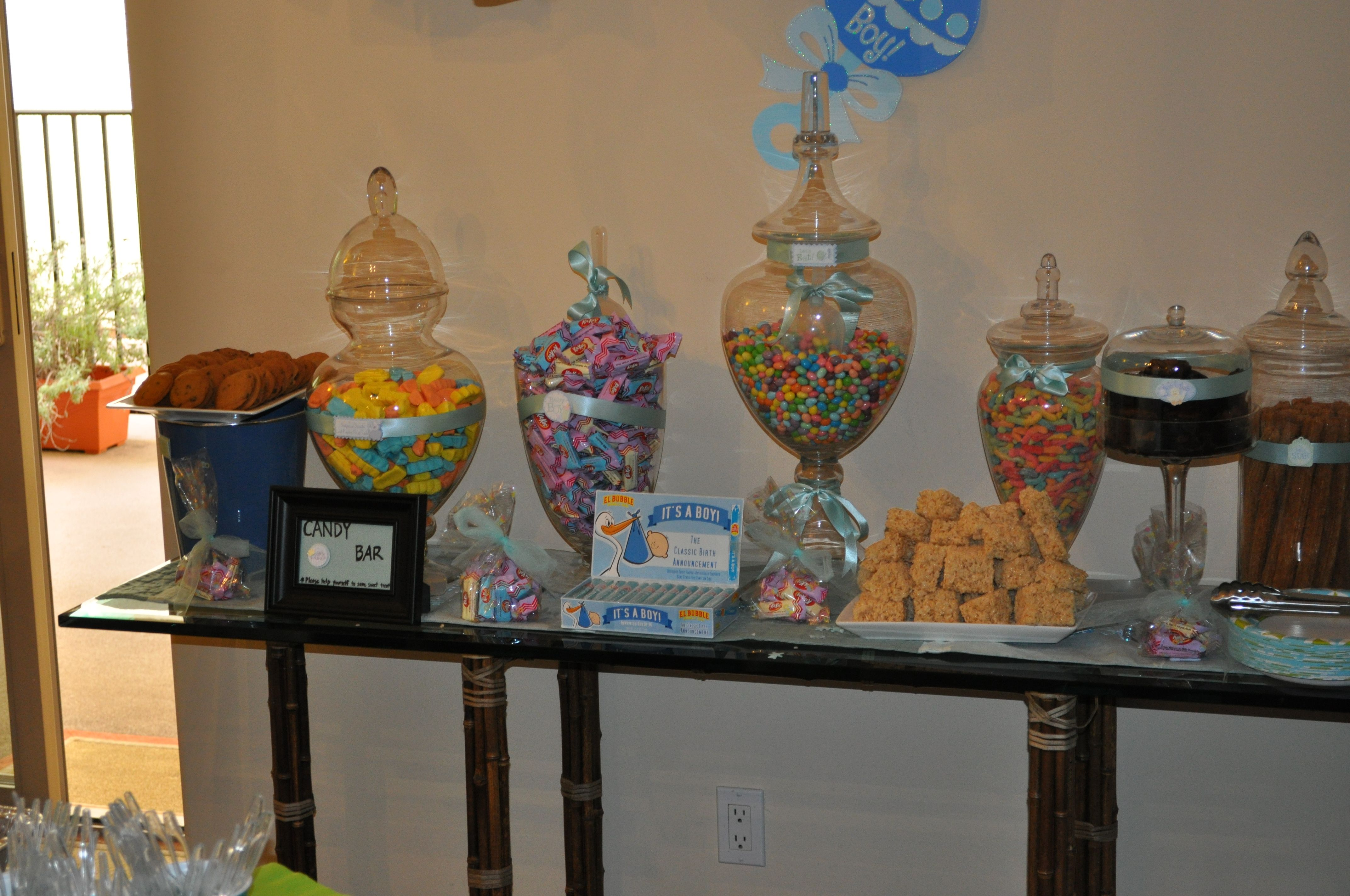 yummy scapes candy bar baby boy shower party ideas pinterest