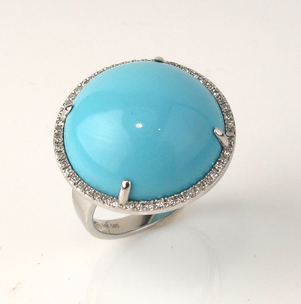 turquoise cabochon and ring accessories