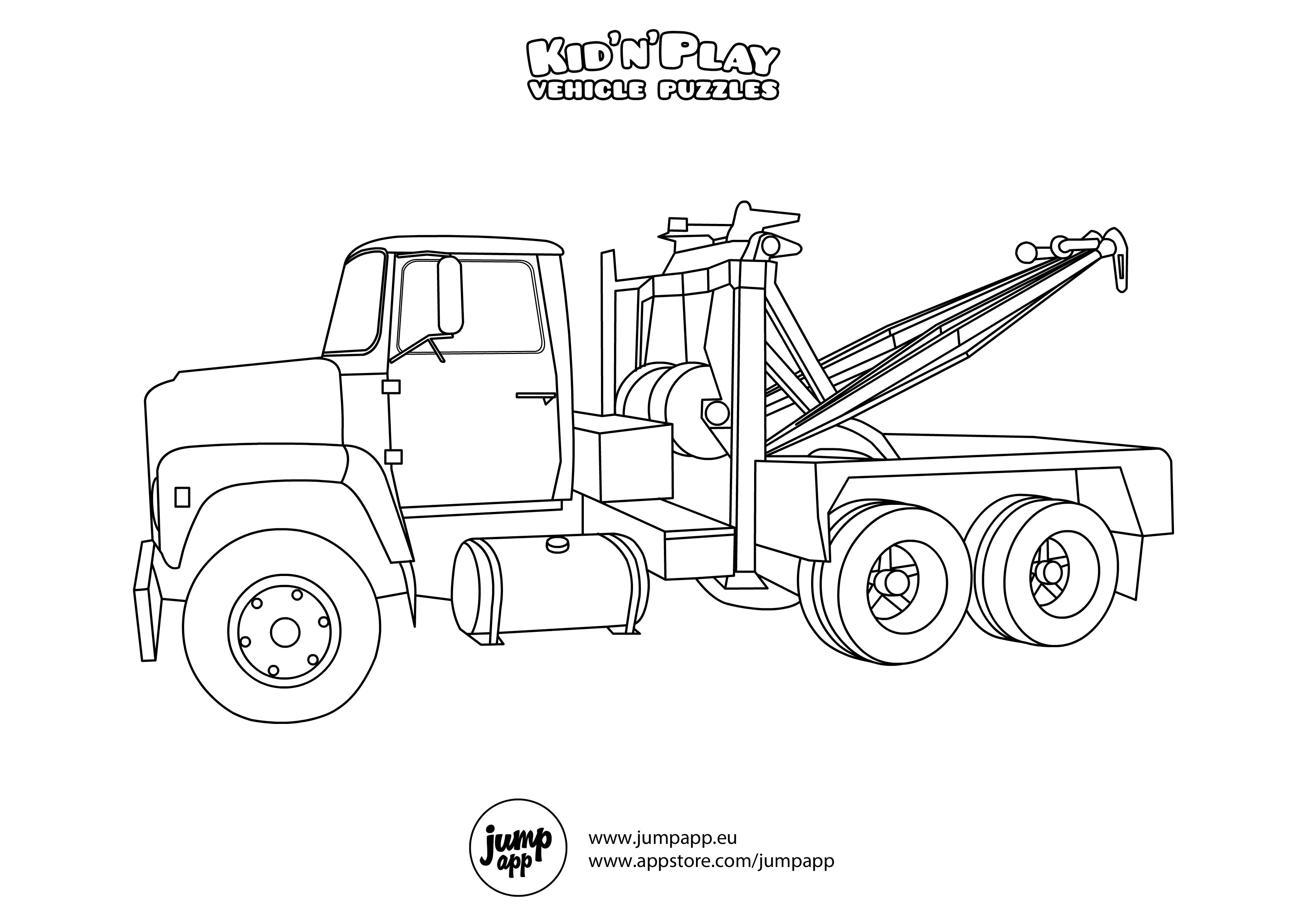 Free Printable Tow Truck Coloring Pages