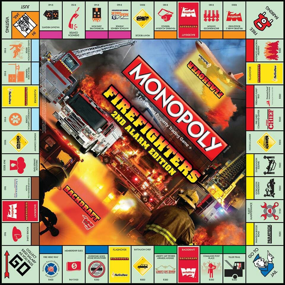 Monopoly firefighters edition | firefighting | Pinterest