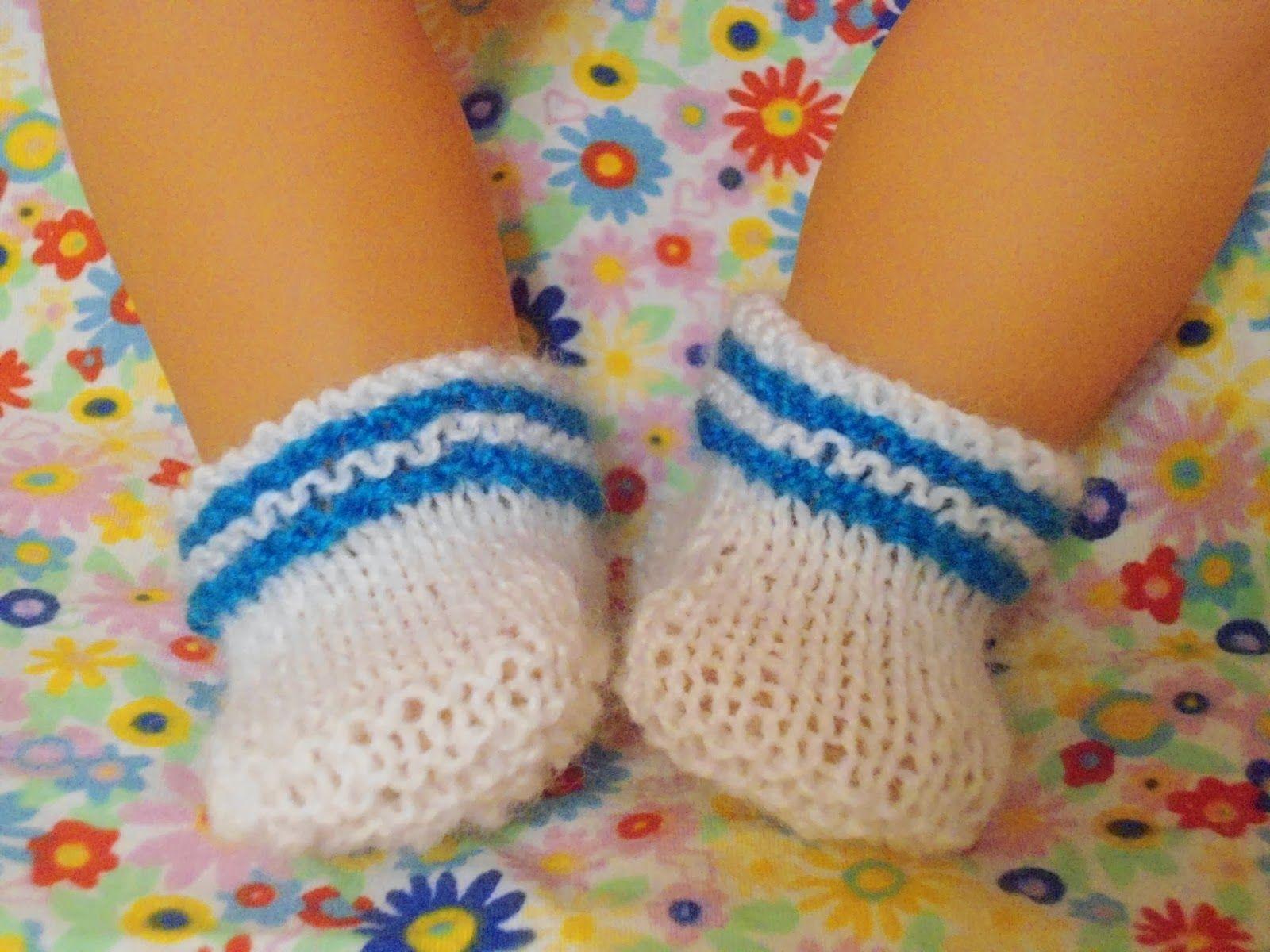 Как связать носочки для беби бона спицами