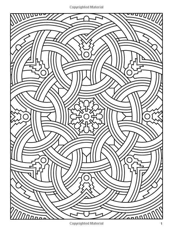 geometric coloring book deco tech geometric coloring book dover - Geometric Coloring Book