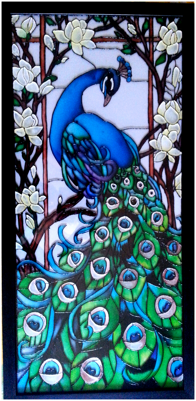 Peacock design for painting