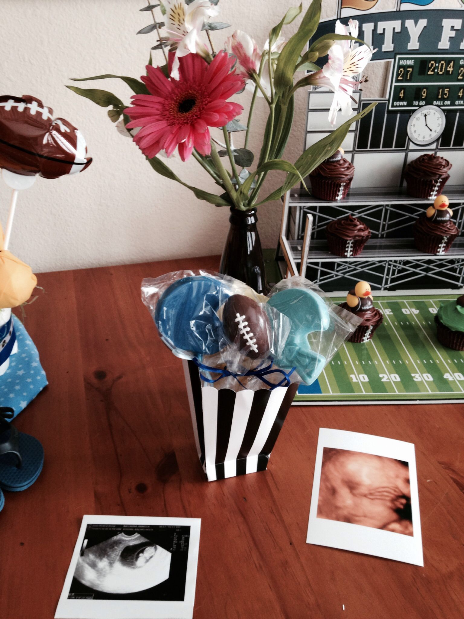 football baby shower party ideas pinterest