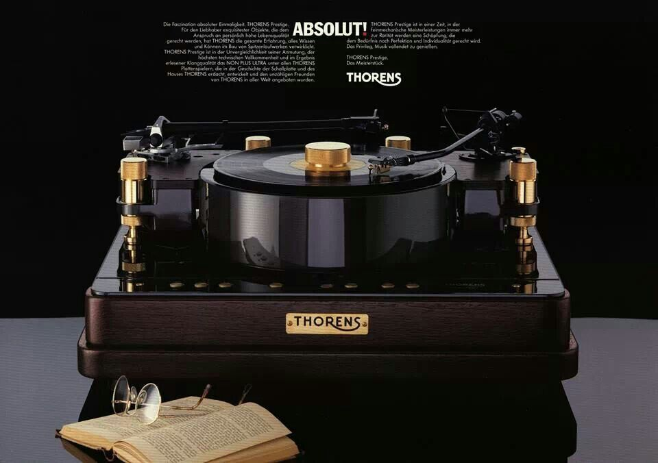 thorens prestige high end turntable vinyle mon amour pinterest turntable. Black Bedroom Furniture Sets. Home Design Ideas