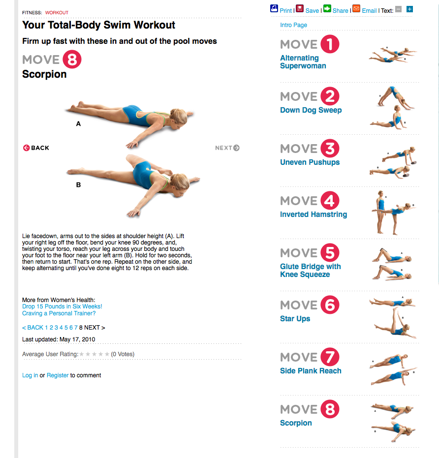 Post Swim Workout Workouts Fitness Wellness Pinterest