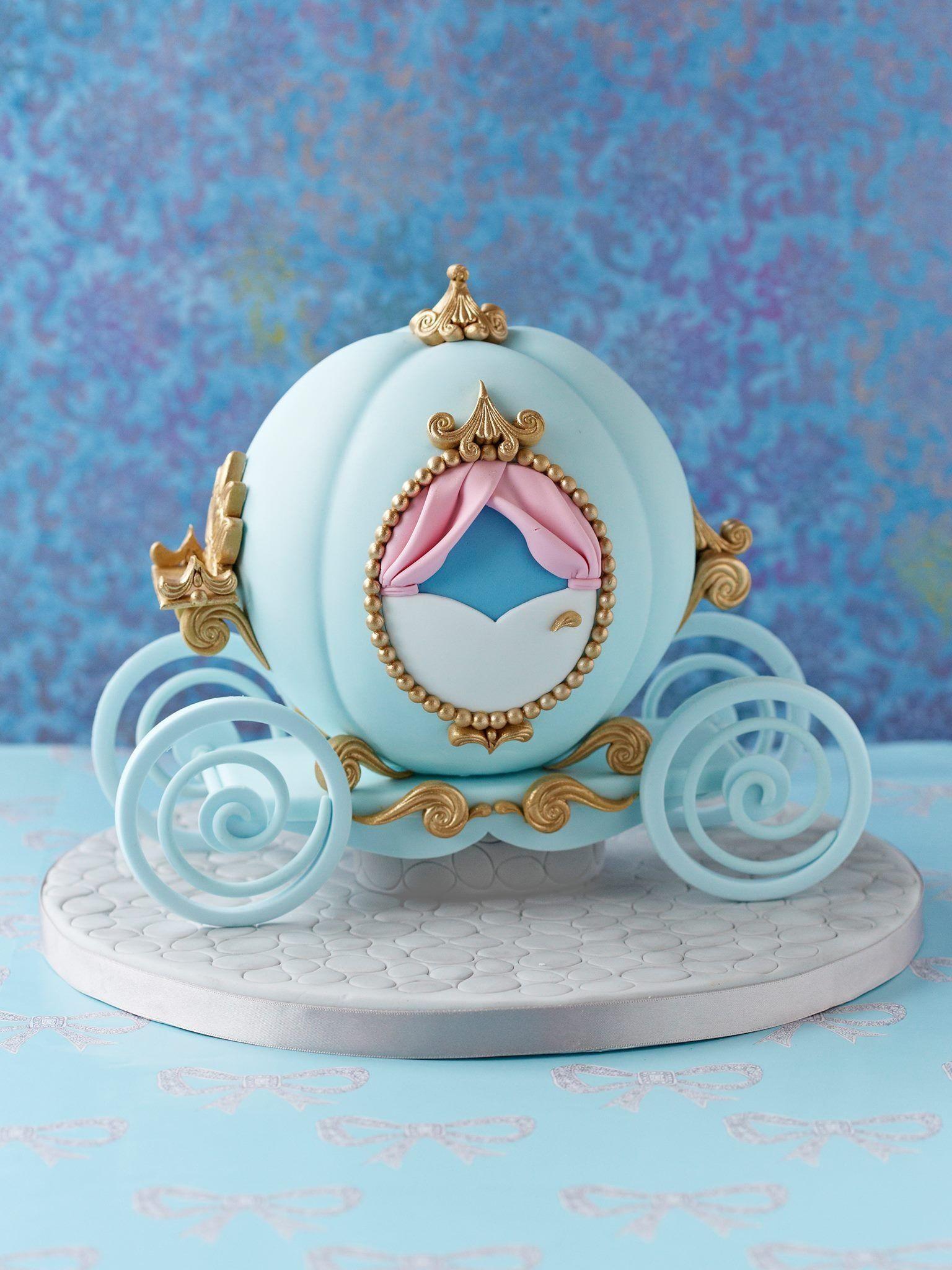 Cinderellas coach cake  Creative Cakes  Pinterest