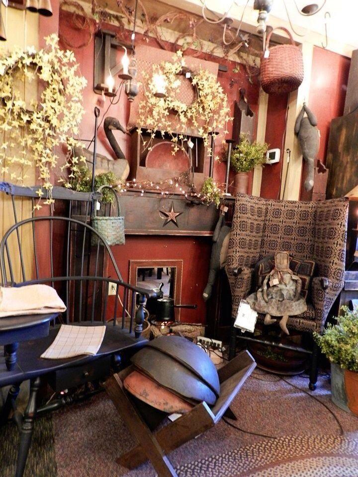 Primitive Living Room Decorating Ideas Pinterest