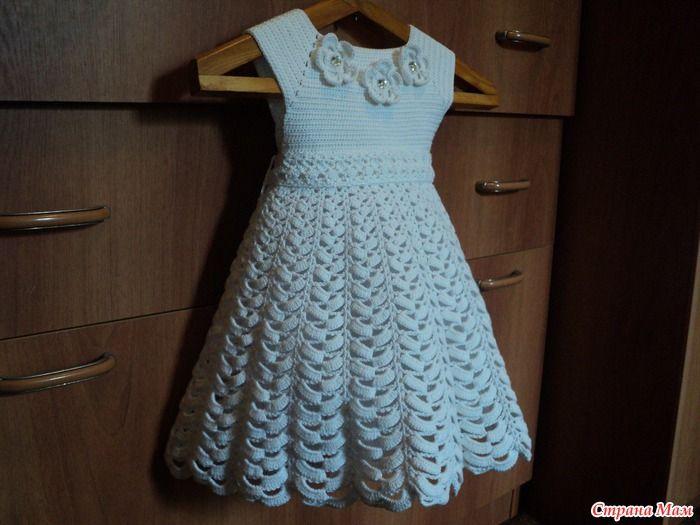 Фото вязаных платьев для девочки