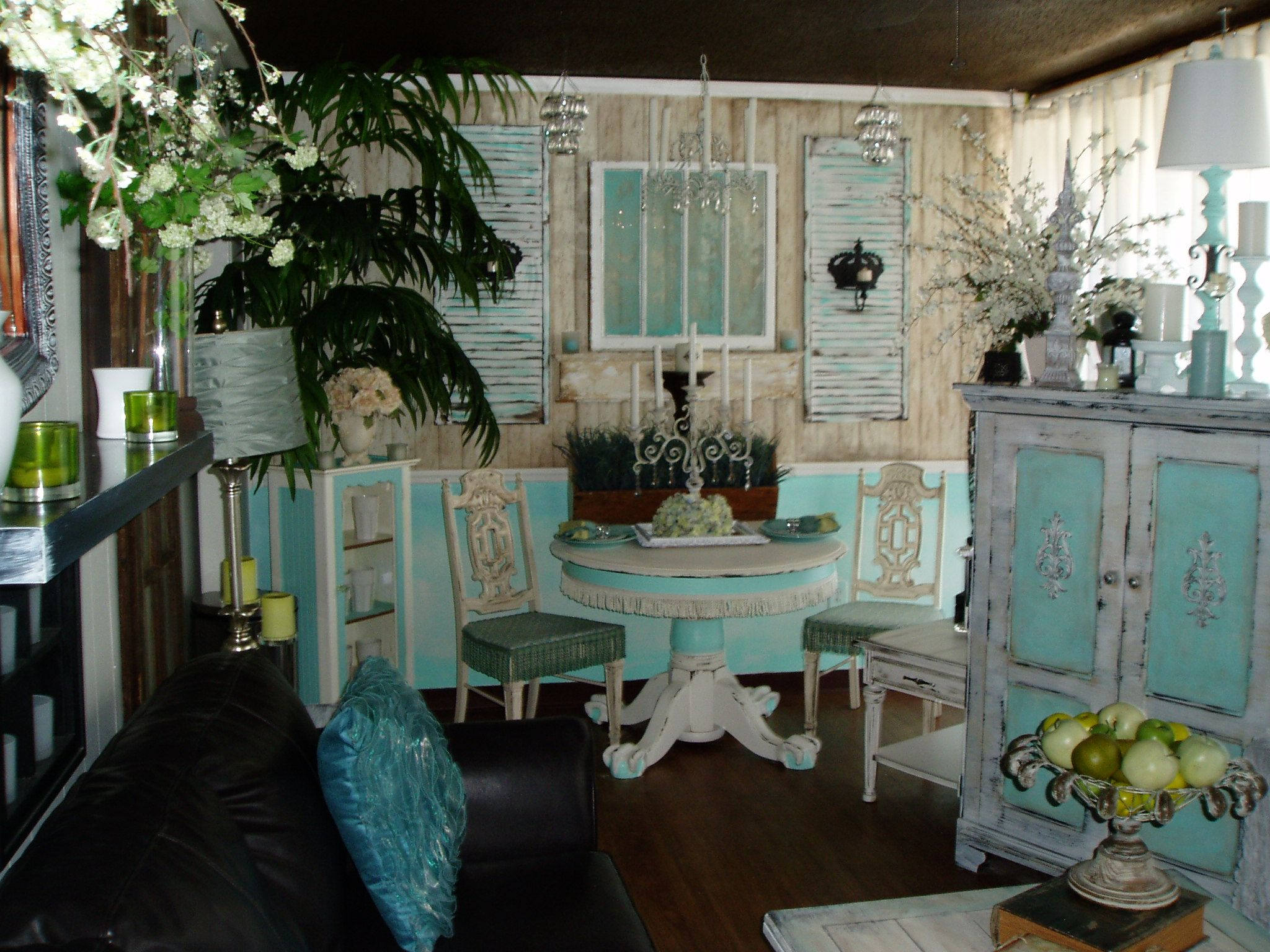 My New Shabby Chic Living Dining Room For The Home Pinterest