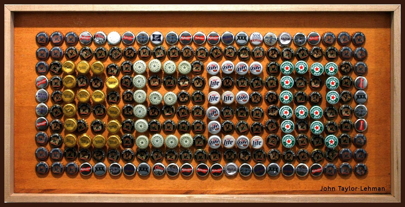 Beer bottle cap art bing images for How to make beer bottle cap art