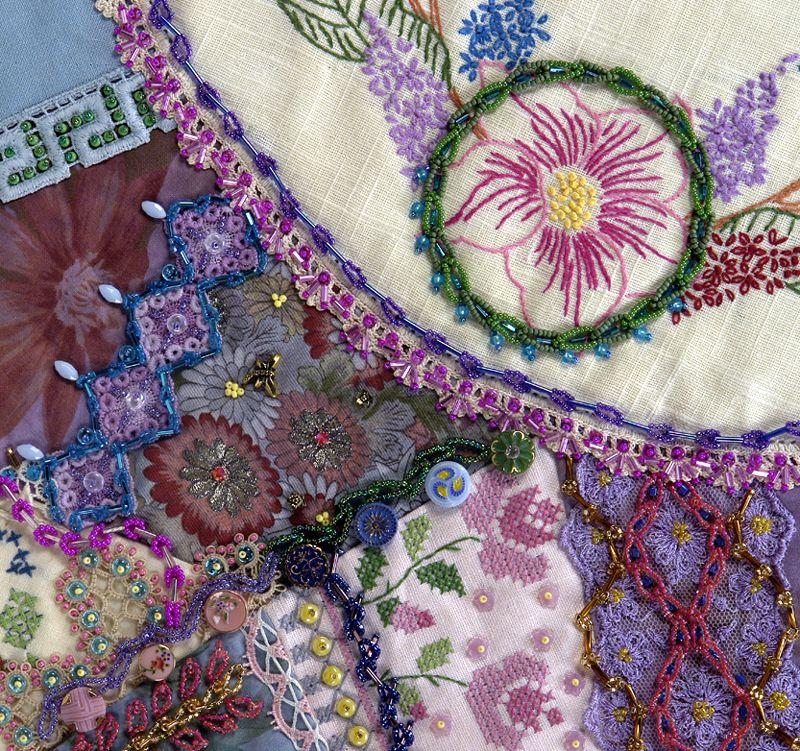 Crazy Quilting Stitches Patterns : crazy quilt Crazy Quilt Stitches Pinterest