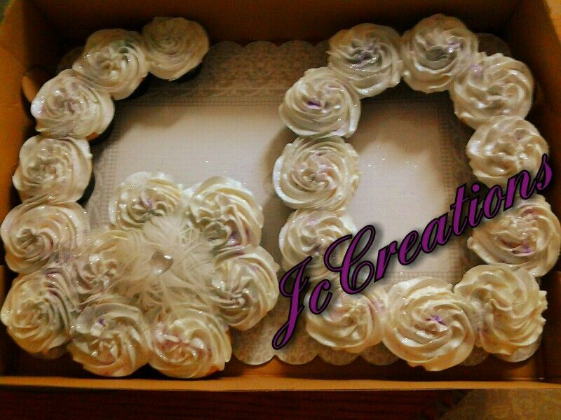 Cake Designs Made Out Of Cupcakes : Number 60 made out of cupcakes JC CREATIONS CAKES ...