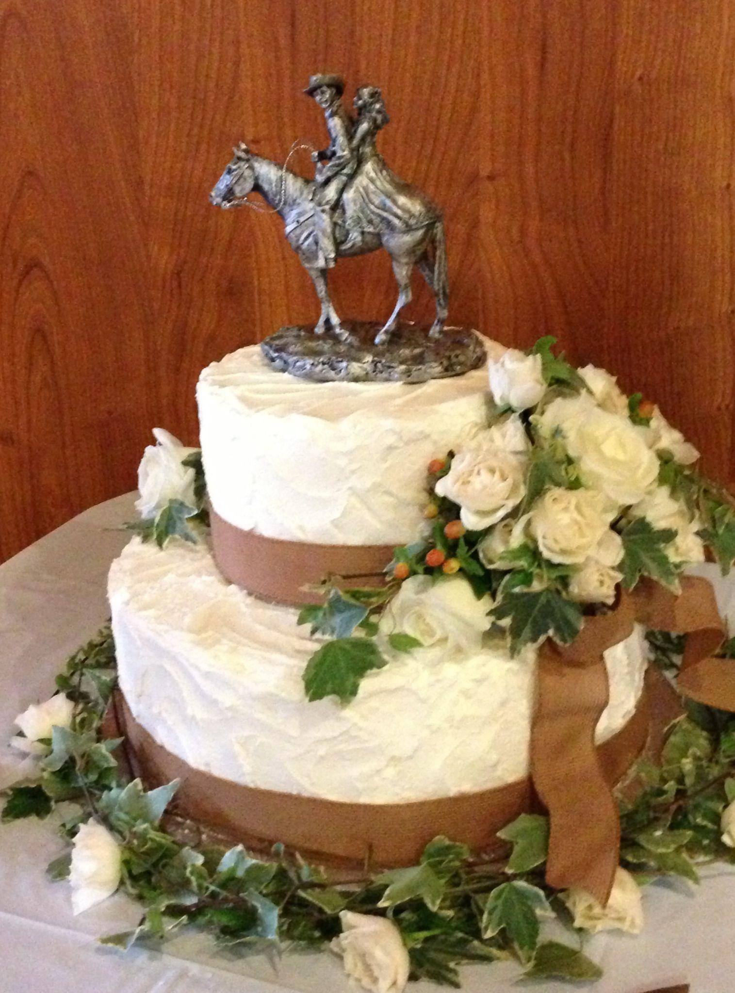Western Themed Wedding Cakes Simple