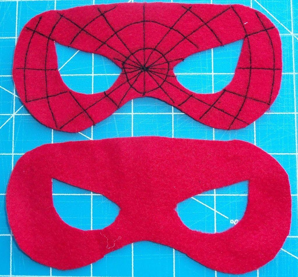 Как сшить маску человека паука из ткани