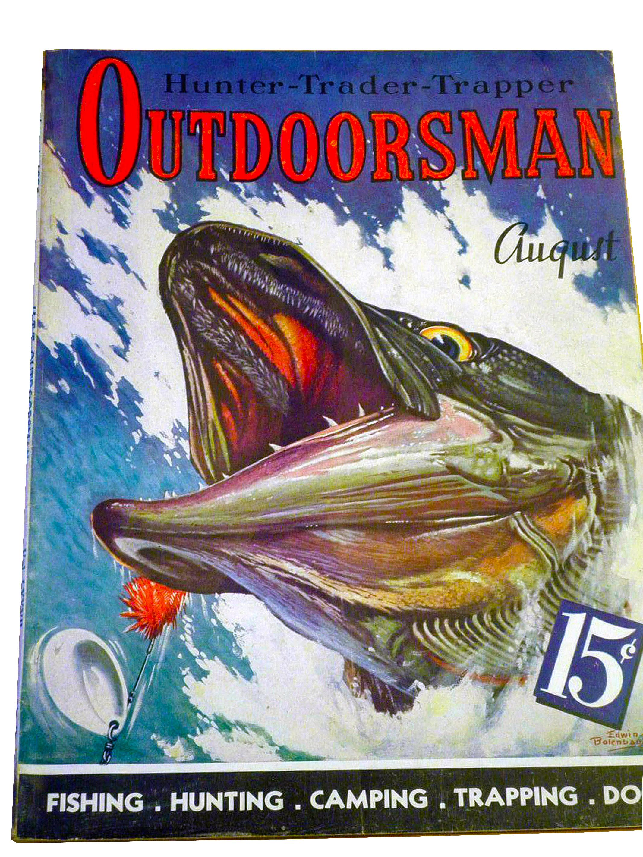Outdoorsmanaugust hunting fishing magazine covers for Hunting and fishing magazine