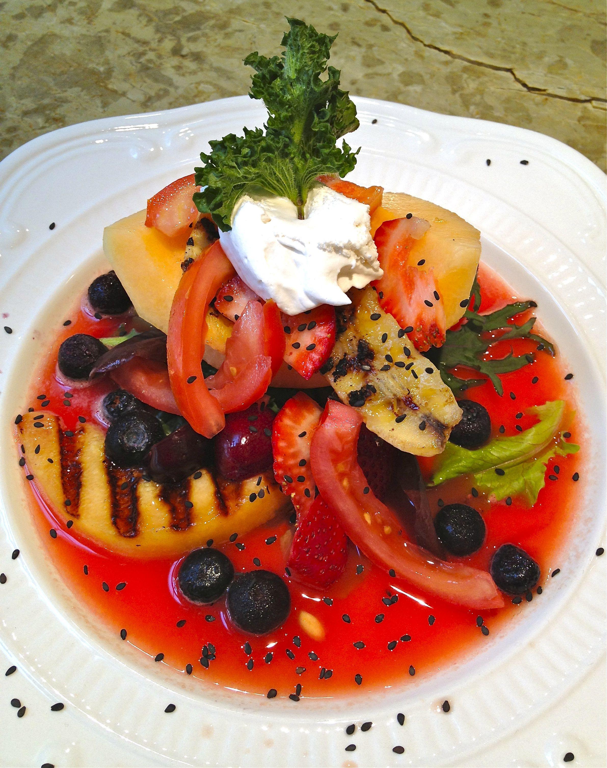 Grilled fruit salad.   Vegan Recipes   Pinterest