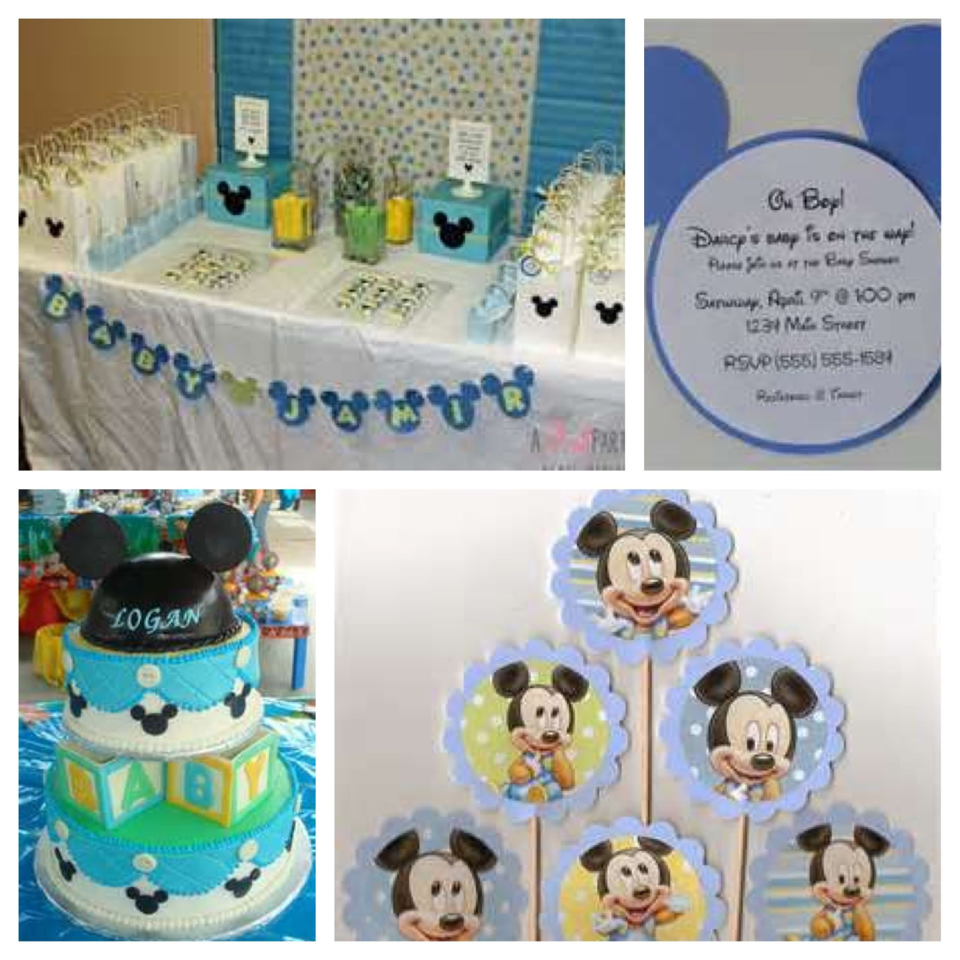 mickey mouse baby shower theme party ideas pinterest